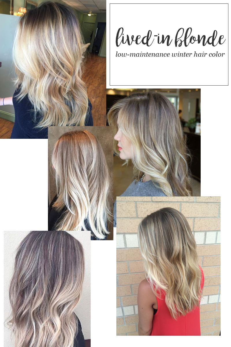 Lived In Blonde Hair Color For Winter Hair Pinterest Hair