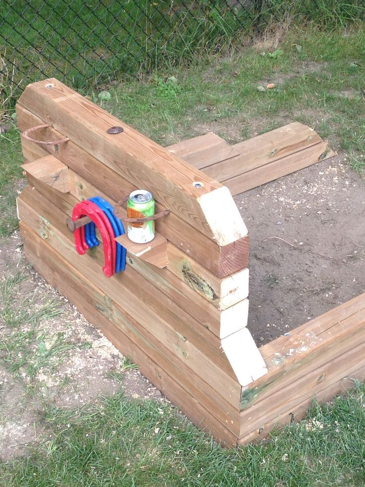 Top 25 ideas about horse shoe pit on pinterest horseshoe for How to make a horseshoe