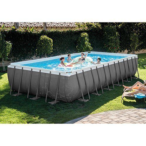 Best Swimming Pool Set 24ft X 12ft X 52in Ultra Frame Rectangular W Many Extras Swimmingpoolset Rectangular Pool Above Ground Swimming Pools Rectangle Pool