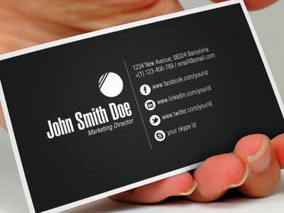 15 Sleek Examples of Black Business Cards