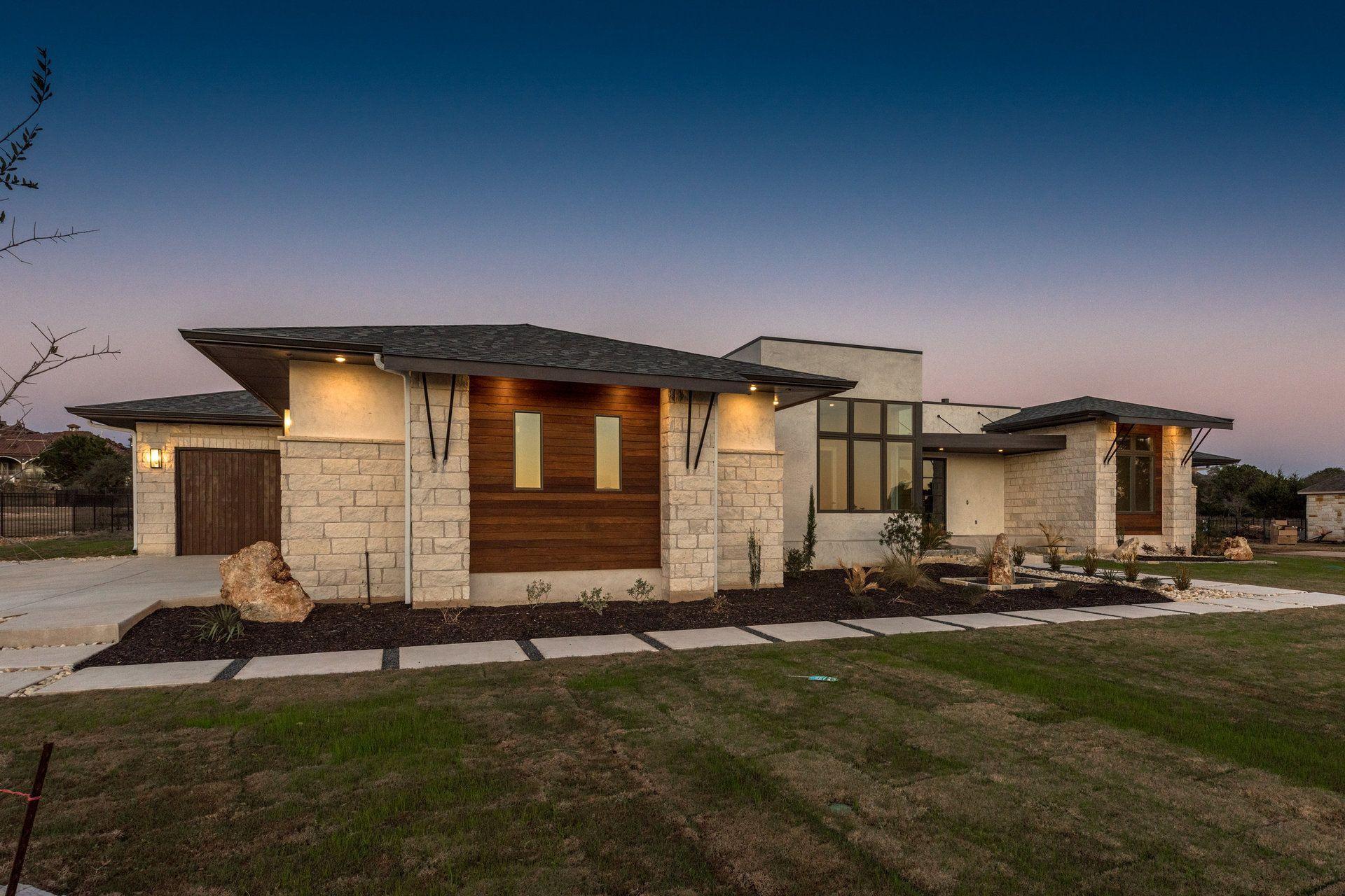 Hill Country Contemporary Home Modern Farmhouse Exterior Custom Home Builders Farmhouse Exterior