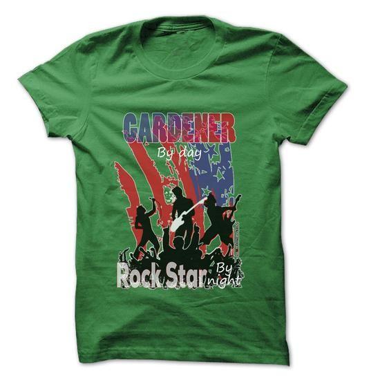 Gardener Rock... Rock Time ... Cool Job Shirt ! - #appreciation gift #sister gift. MORE ITEMS => https://www.sunfrog.com/LifeStyle/Gardener-Rock-Rock-Time-Cool-Job-Shirt-.html?68278