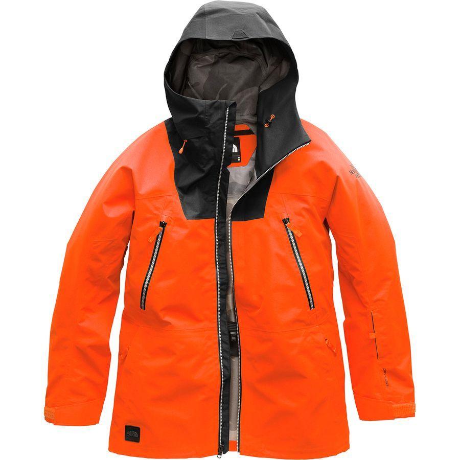 The North Face Ceptor Hooded Jacket Men S Persian Orange Tnf Black Hooded Jacket Men Mens Jackets Ski Jacket Mens [ 900 x 900 Pixel ]