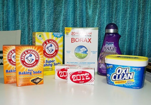 DIY Laundry Detergent | How Does She... powder with zote soap and oxi clean and purex crystals. try it.