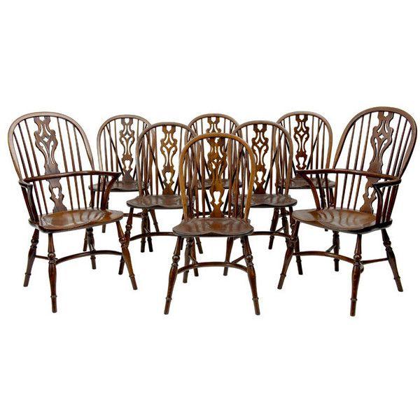 Set Of 8 Ash And Elm Windsor Dining Chairs | Windsor | Pinterest ...