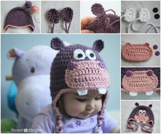 Crochet Hippo Pattern Ideas Best Collection | Gehäkelte mützen ...