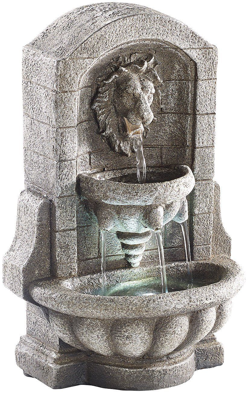 Infactory Wasserspiel Beleuchteter Zimmerbrunnen Lowenkopf Mit Led Und Pumpe Zimmerbrunnen Led Wasserbrunnen
