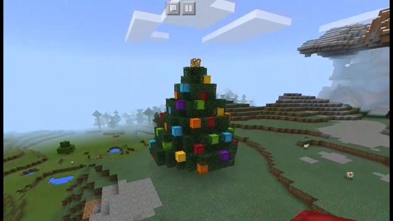 Minecraft Christmas Tree.Pin By David Derrick On Mine Minecraft Minecraft Tutorial