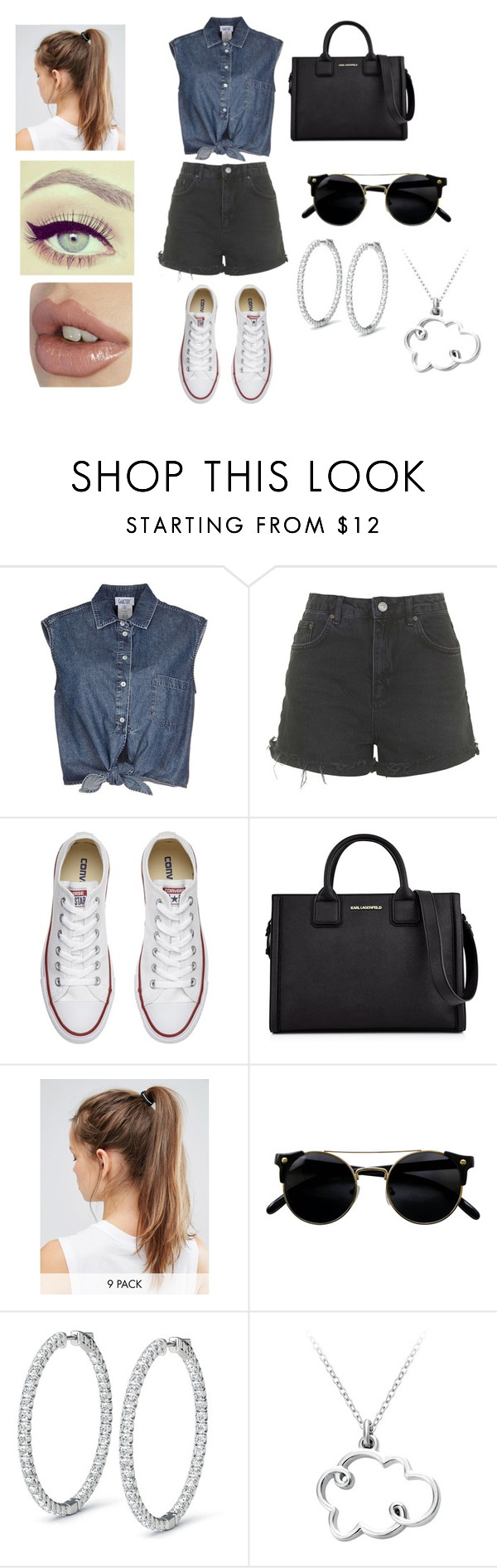 """Untitled #79"" by arilo1205 ❤ liked on Polyvore featuring Jean-Paul Gaultier, Topshop, Converse, Karl Lagerfeld and NIKE"