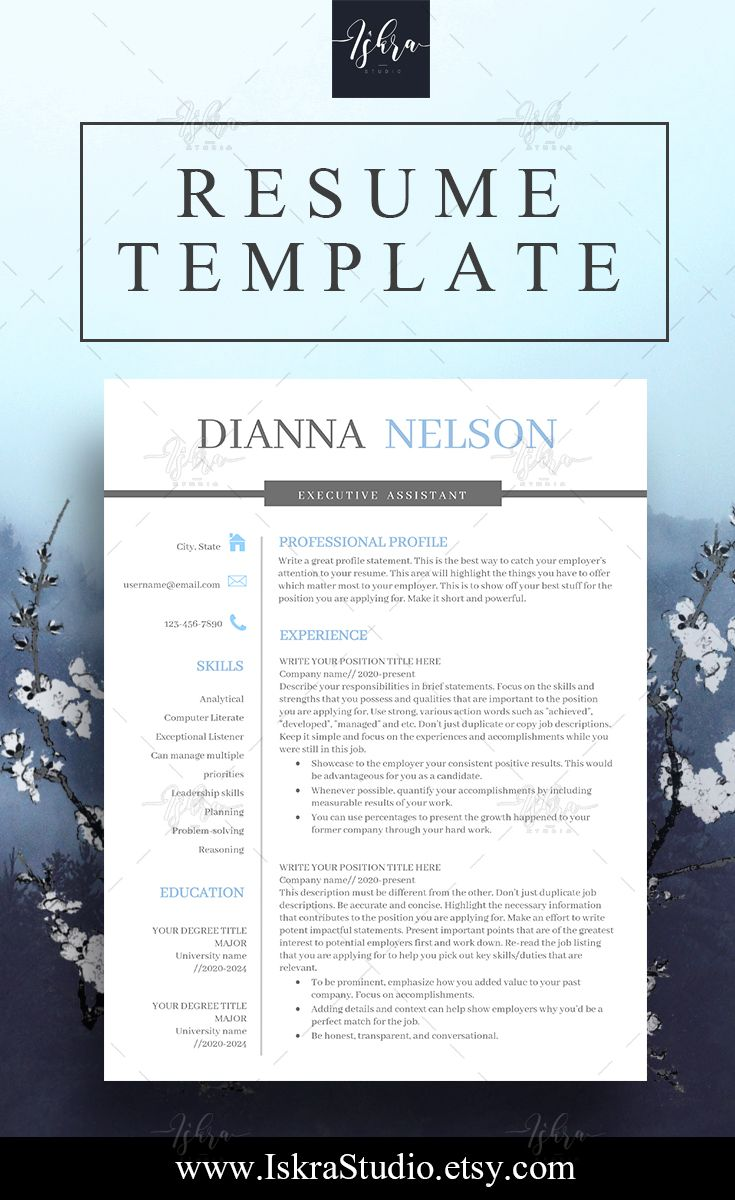 Resume Resume Templates Professional Resume Template One Two And