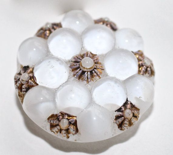 Bubble White Moonglow Glass Small by KPHoppe on Etsy