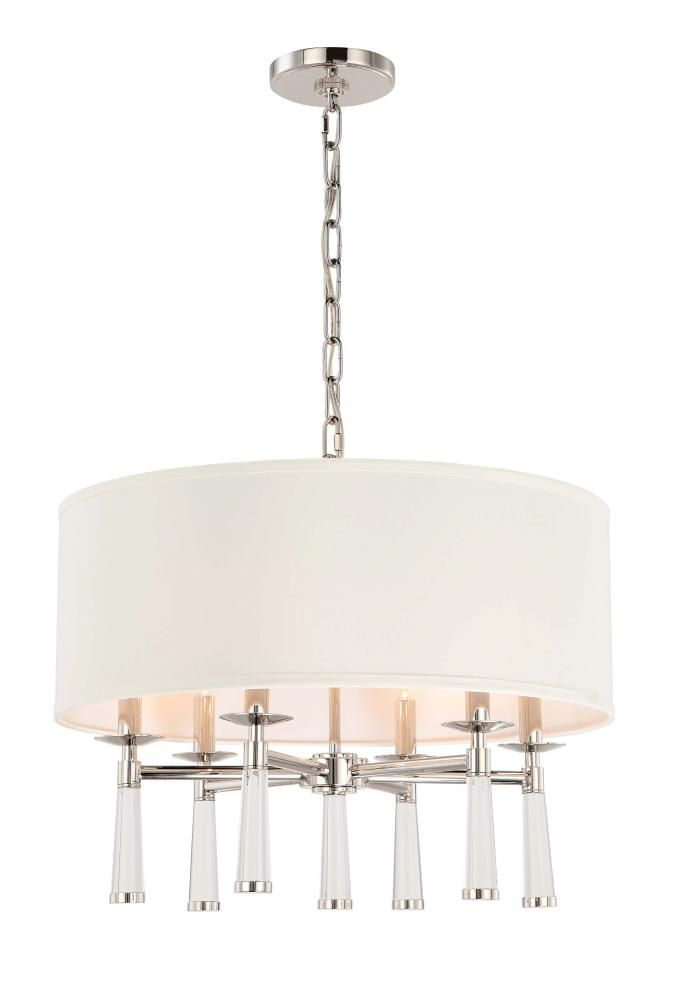 Crystorama Baxter 6 Light Polished Nickel Chandelier : 2GNFP | Hermitage  Lighting Gallery