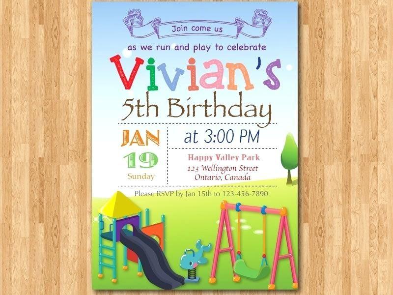 Playground Birthday Invitations Zoom