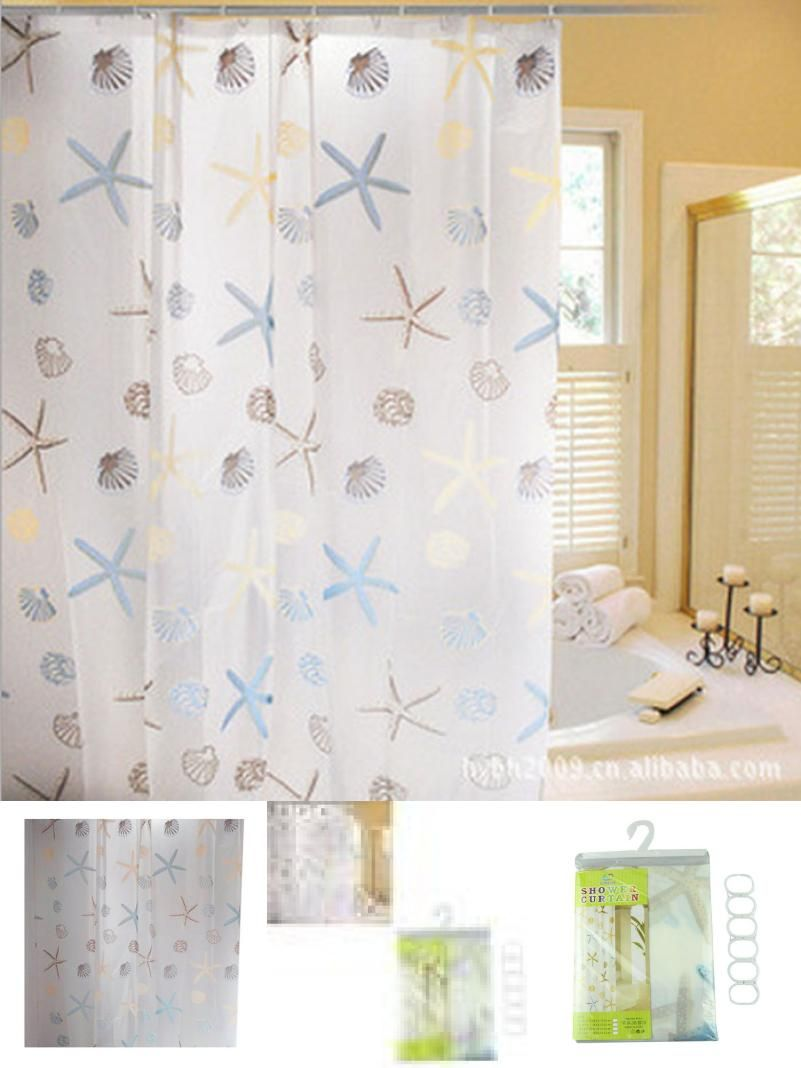 Visit to Buy] Super Deal Waterproof Fashion Star Bathroom PEVA ...