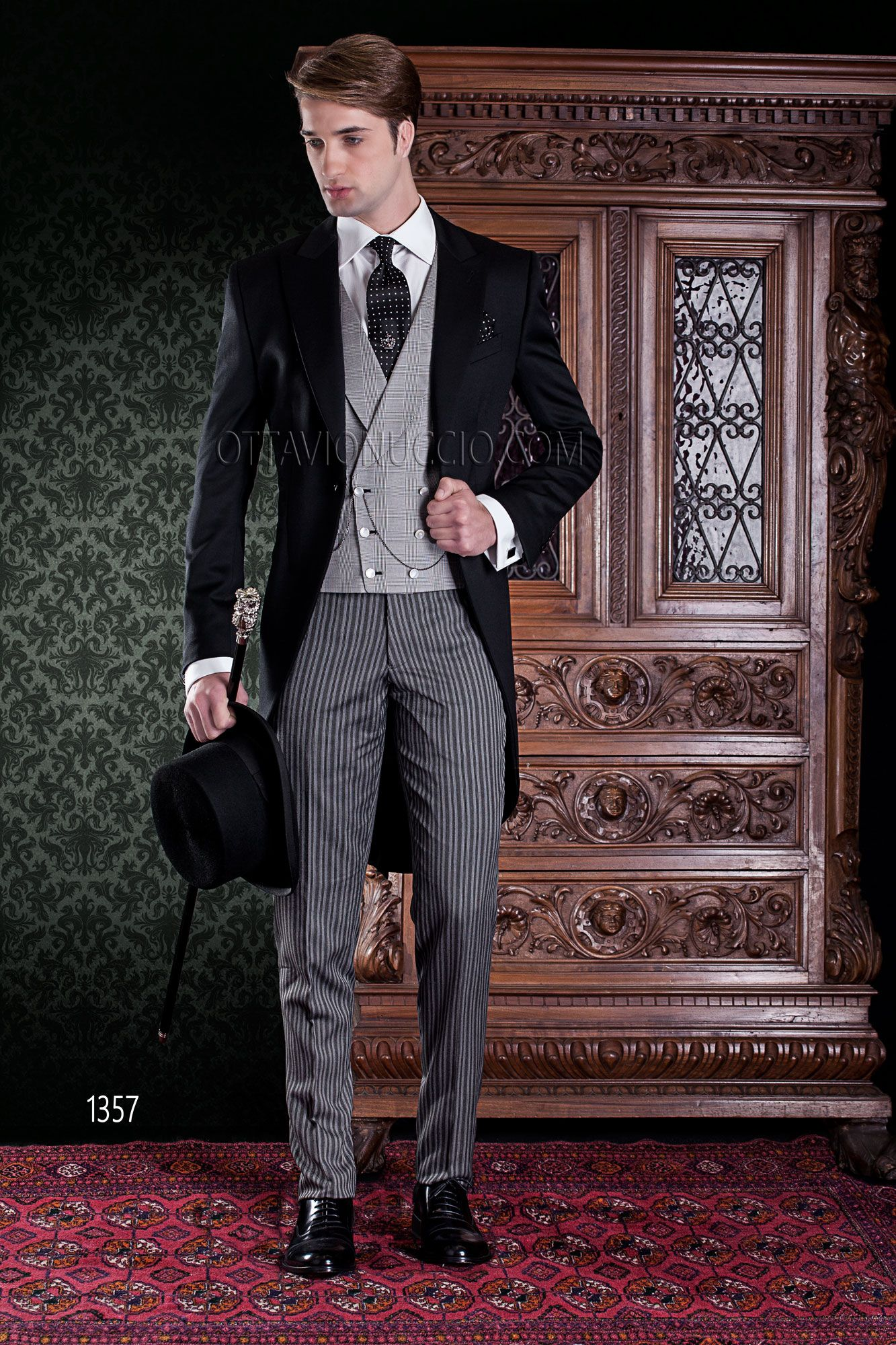 BLACK GREY STRIPE MORNING TROUSERS PINSTRIPE FOR WEDDING DRESS TAILCOAT TAILS