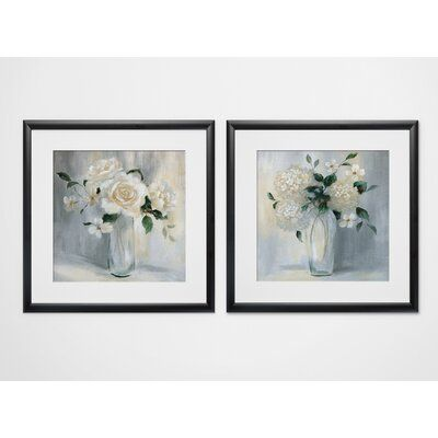 Darby Home Co This 'Carolina Springs Bouquet' 2 Piece Framed Print Set is an individually printed and framed by hand to very high standards. Each piece includes hanging accessories and is ready to hang. You need only to apply an anchor to the wall of your choice. Format: Black Framed