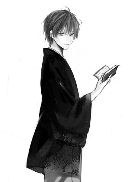 Anime Guy with Book