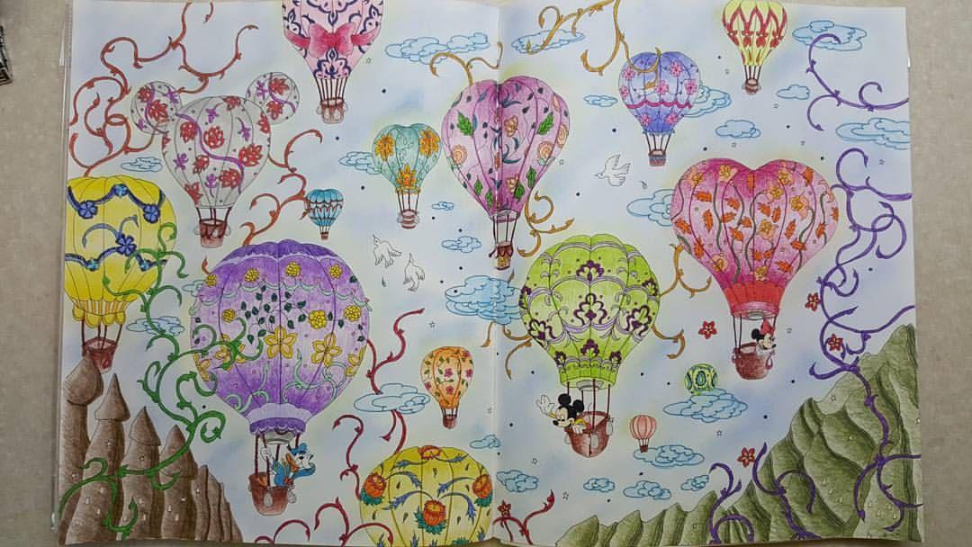 #旅するディズニー塗り絵 #大人の塗り絵#mickeymouse #minniemouse #donaldduck #cappadocia #turkey #hotairballoons #adultcolouring