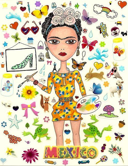 Frida Kahlo + KENZO / viaiscreamcolour.