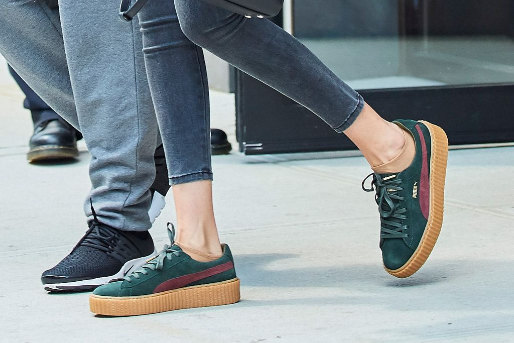purchase cheap 3c545 8a176 Gigi Hadid Steps Out In Puma By Rihanna Creepers | SHOES ...