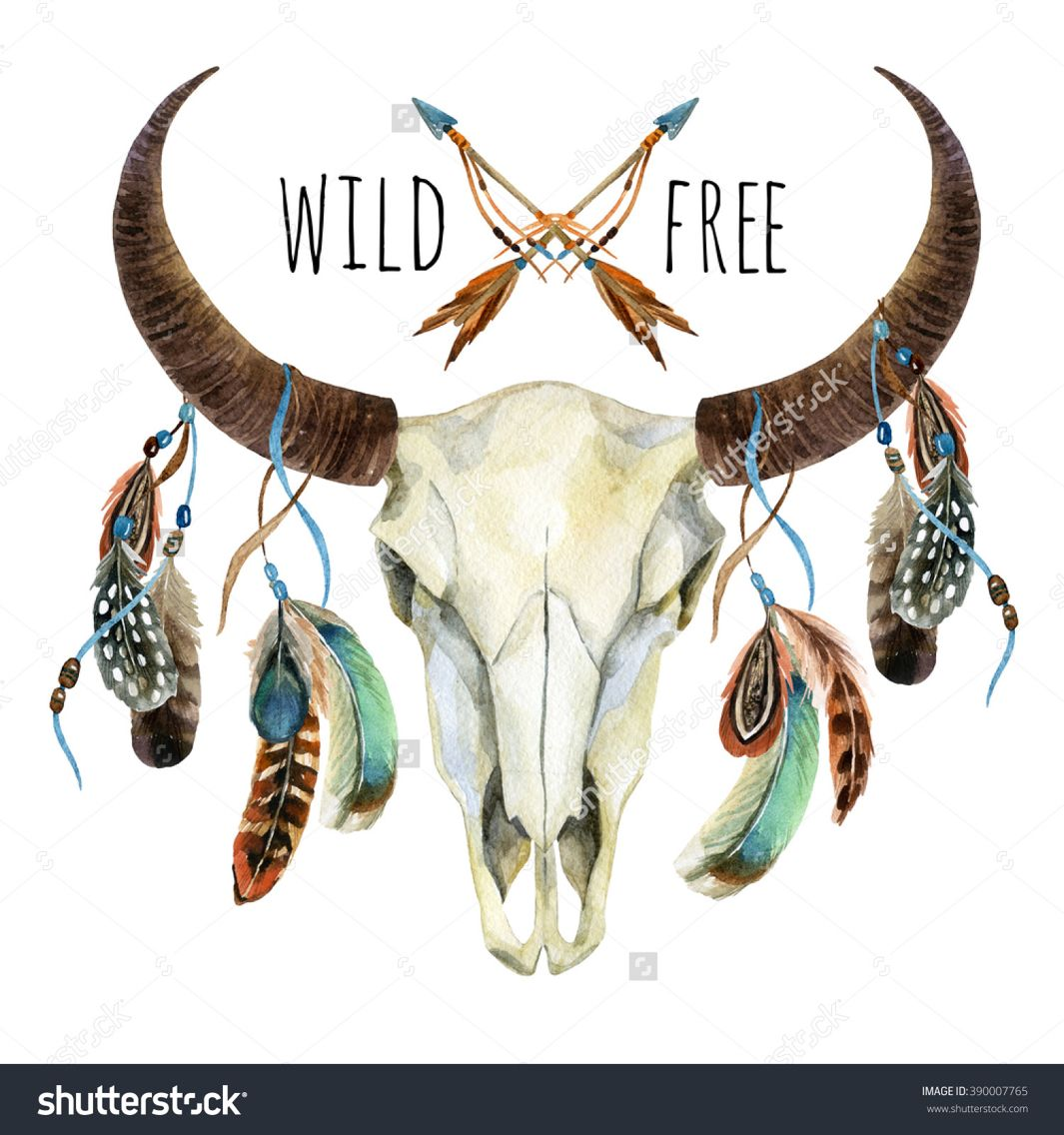 Wild Free Tatoo In 2019 Cow Skull Cowgirl Tattoos Skull Painting