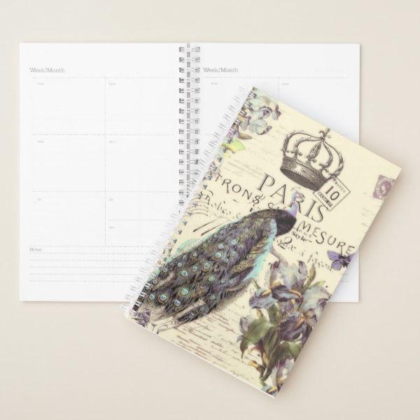 Ordinaire Royal Paris Peacock Planner Custom Office Supplies #business #logo #branding