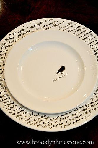 Diy Make Your Own Halloween Dinnerware Halloween Dinnerware Porcelain Pens Dinnerware