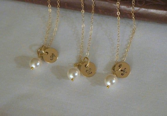 9 Gold Bridesmaid Jewelry Sets, Personalized Bridesmaid Gift, Custom Wedding Jewelry, Initial Necklaces -  9 Gold Bridesmaid Jewelry Sets, Personalized Bridesmaid Gift, Custom Wedding Jewelry, Initial Neckl - #Bridesmaid #Bridesmaidjewelry #CUSTOM #Electroformedjewelry #Gift #Gold #Initial #jewelry #Necklaces #Personalized #Sets #Wedding