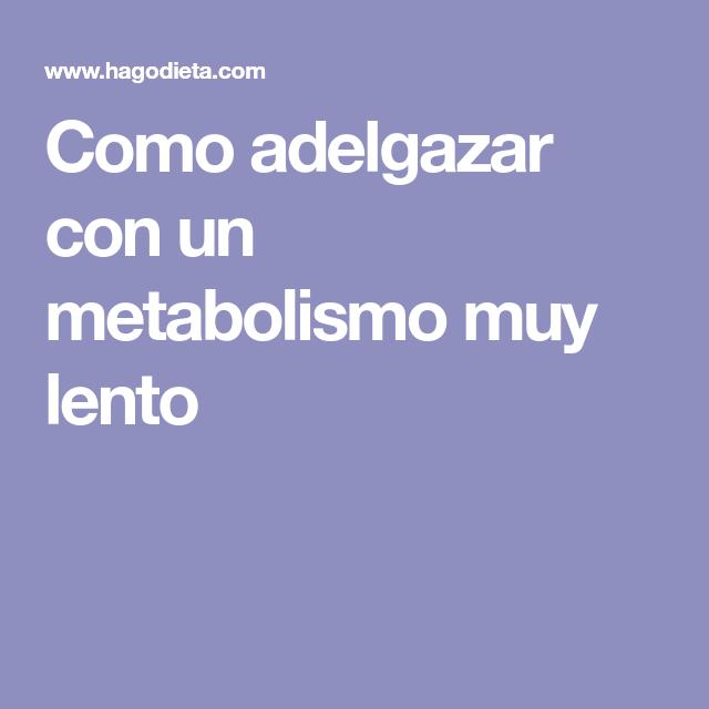 acelerar metabolismo para adelgazar consejos