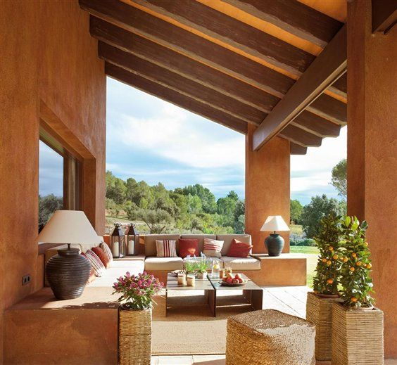 Porches y terrazas naturalmente bonitos | Porch, Outdoor living and ...