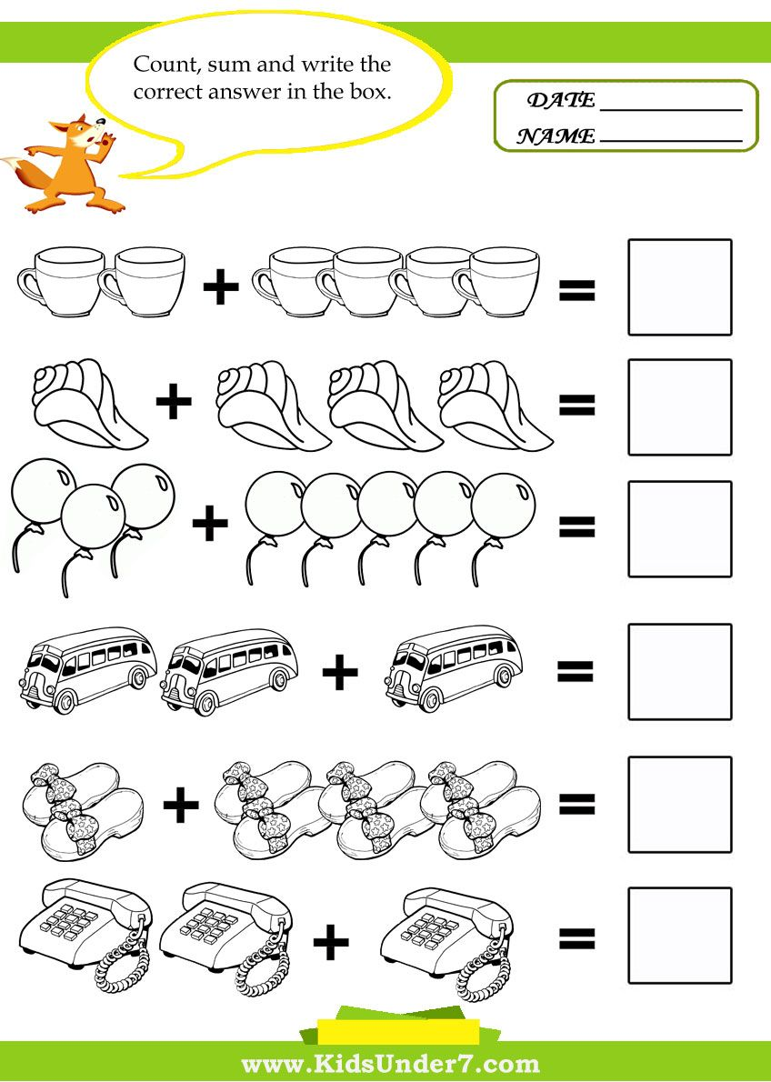 Here you can find 14 printable math kids worksheets designed to – Maths for Kids Worksheets
