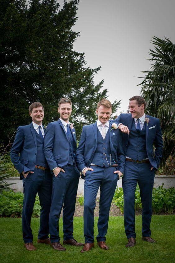 34 Wedding Groomsmen Suits Suggestions | Groomsmen suits, Grooms ...