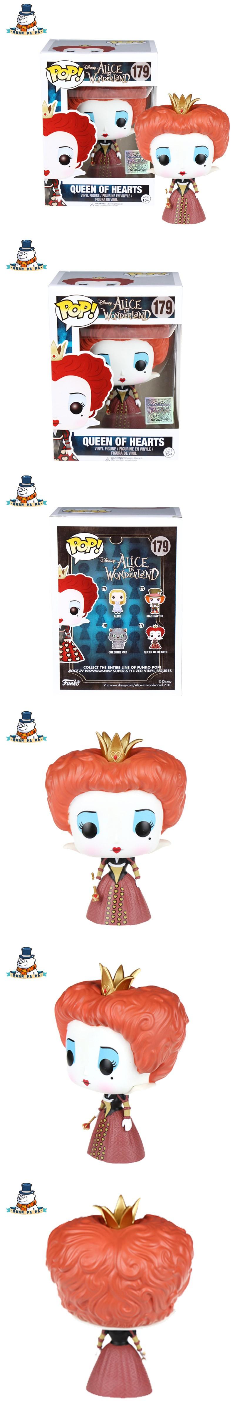 Car decoration toys  QuanPaPa Genuine Original FunKo POP Alice in wonderland Queen Of