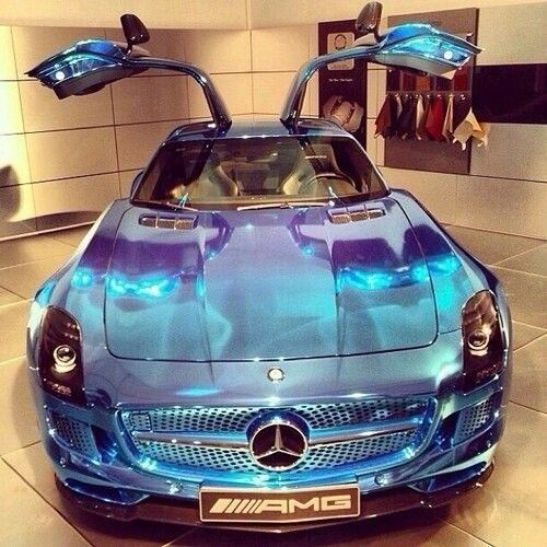 Beautiful Blue Shiny Mercedes With Images Luxury Car Brands