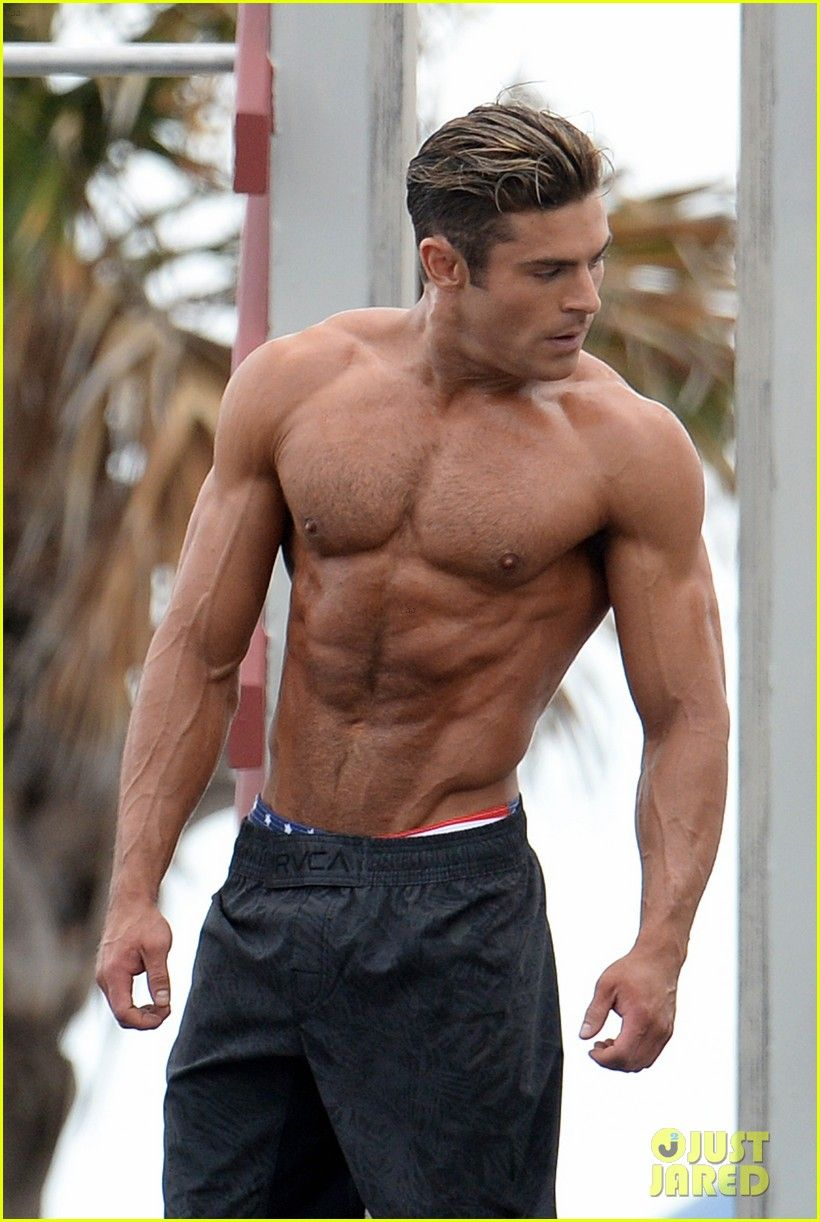 zac efron abs shirtless obstacle course baywatch 23 Zac Efron Muskel, Heiße  Akteure, Heiße