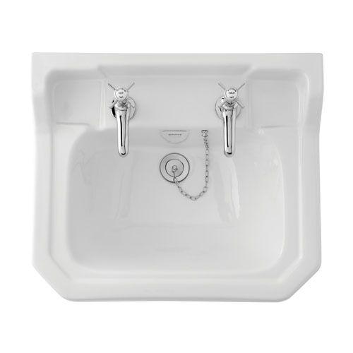 Edwardian 610 Basin - 2 Tap Holes   bathstore