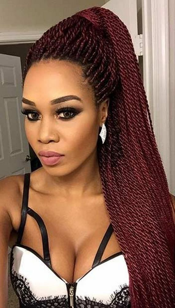 1. Stunning Micro Braids Updo Once you have your gorgeous braids ...
