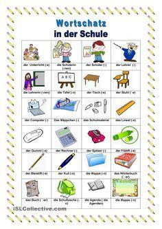 in der schule n met aprender alem n idioma alem n und alem n. Black Bedroom Furniture Sets. Home Design Ideas