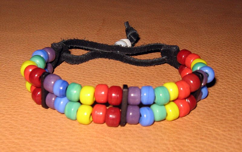 Handmade Native American Two Spirit LGBT Glass Bead Bracelet   eBay