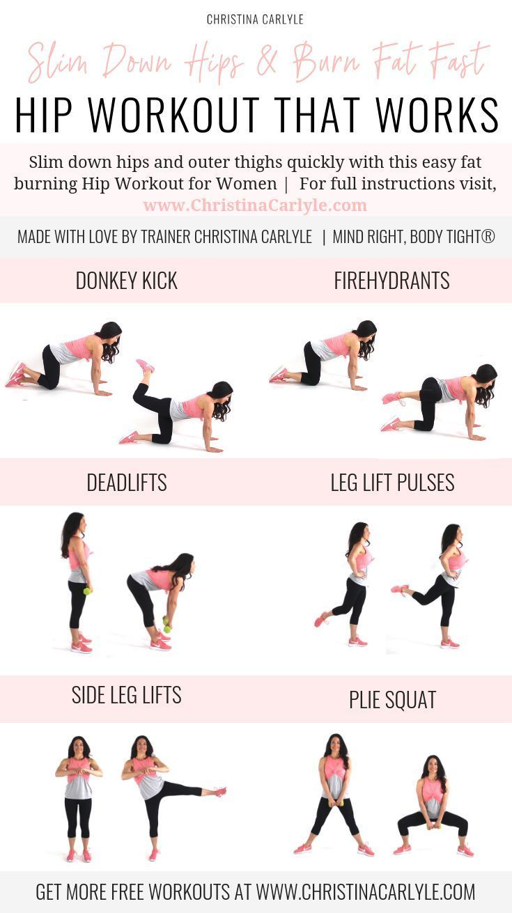 Photo of Fat Burning Hip Workout for Tight, Toned Hips & Outer Thighs