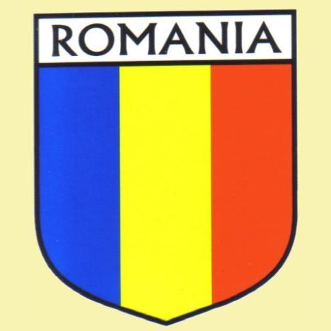 For everything genealogy romania flag country flag romania decals stickers set of 3 15 00