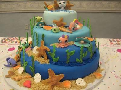 littlest pet shop cake ideas Under The Sea Littlest Pet Shop Cake