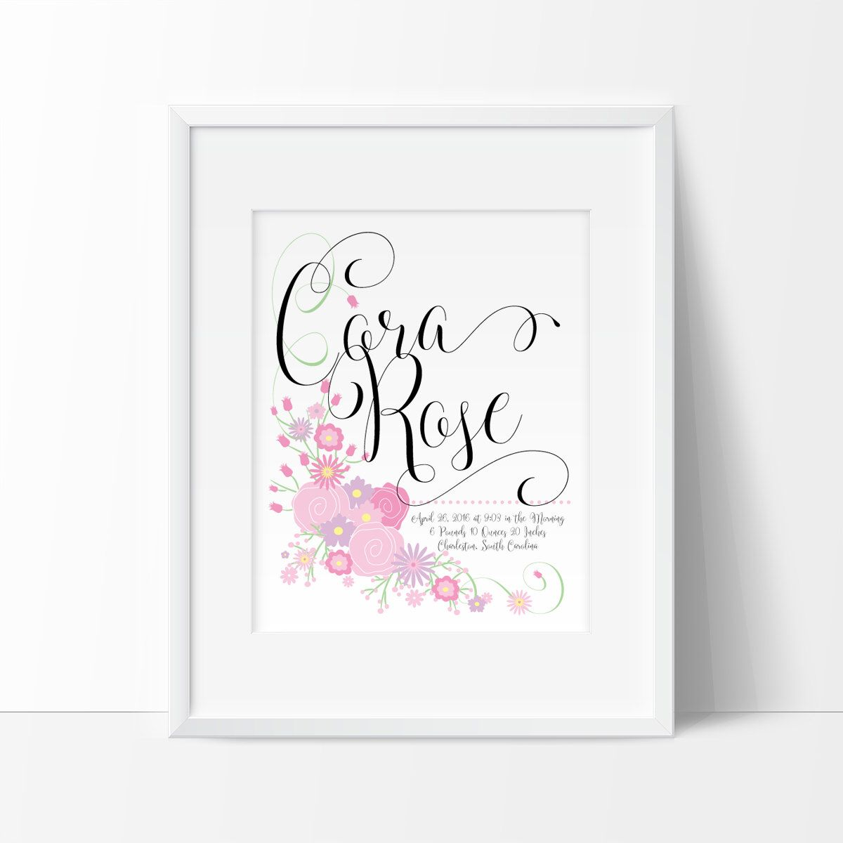 Baby gift birth announcement wall art personalized baby gifts baby gift birth announcement wall art personalized baby gifts digital birth announcement negle Gallery