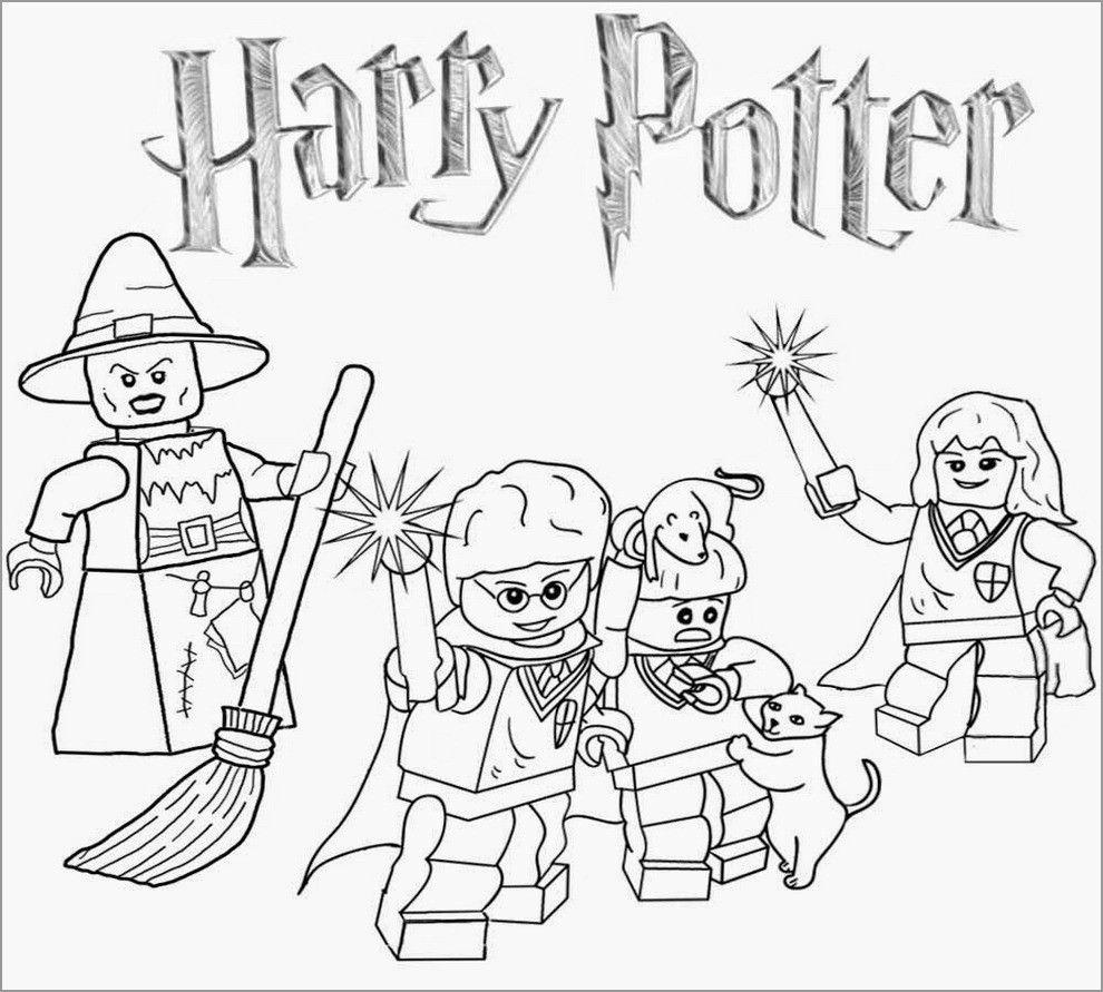 Printable Lego Harry Potter Coloring Page Con Imagenes Dibujos
