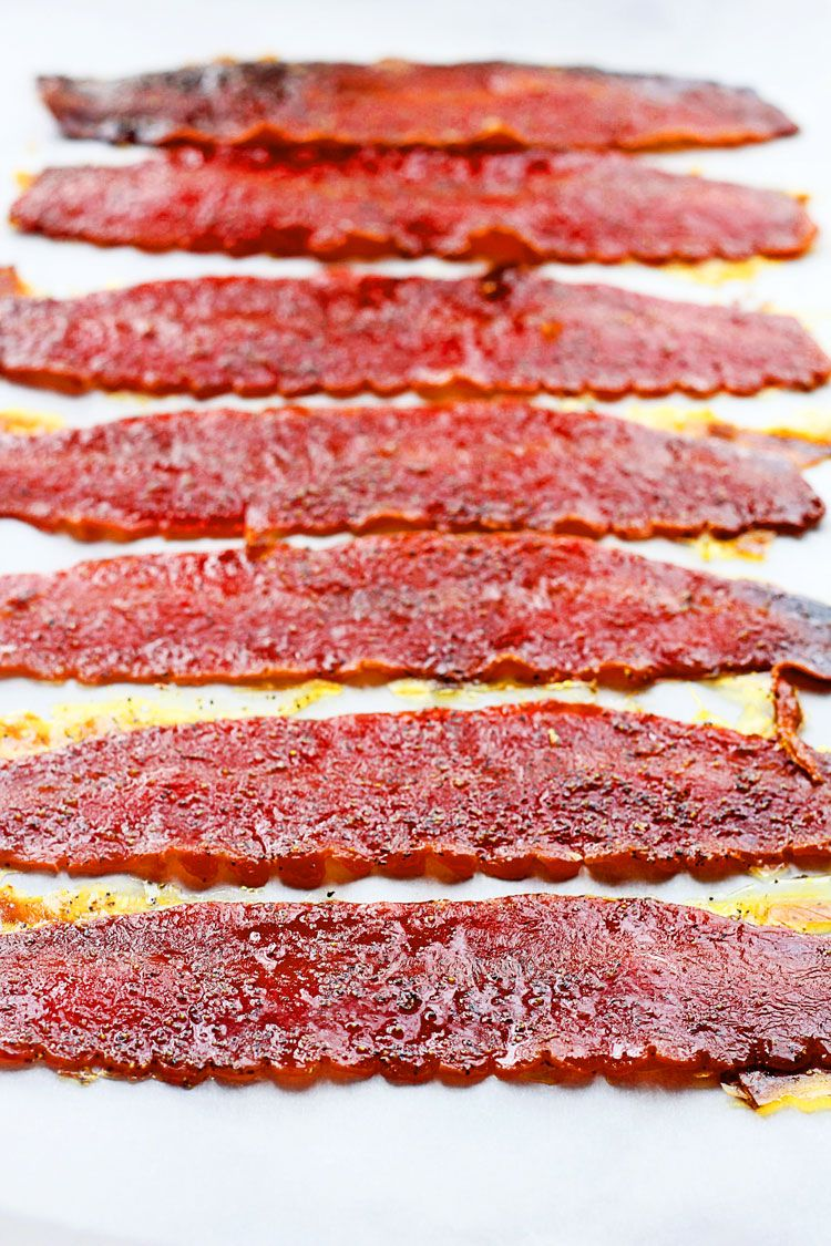 Brown sugar baked turkey bacon recipe with images