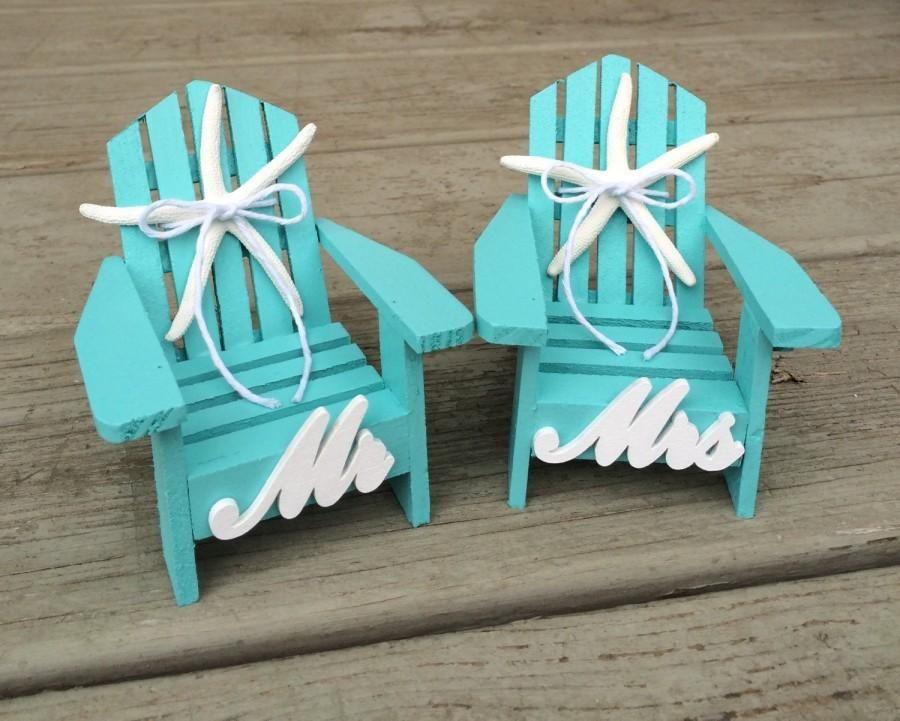 Beach Wedding Cake Topper,Mini Adirondack Chairs,Beach Wedding ...