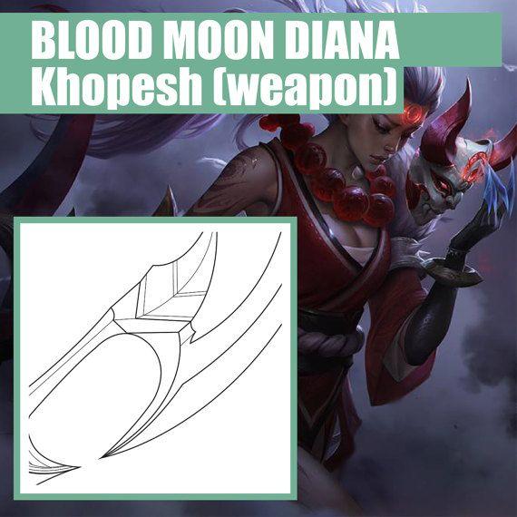 Blood Moon Diana - Weapon - Khopesh - Blueprint - Pattern - Vector - copy blueprint start animation