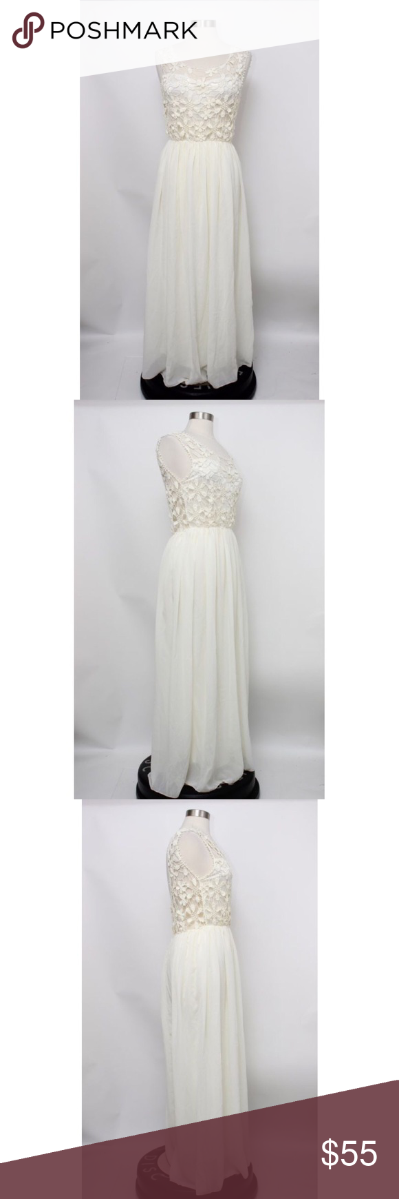 Vintage s beige crochet maxi wedding dress vintage s beige