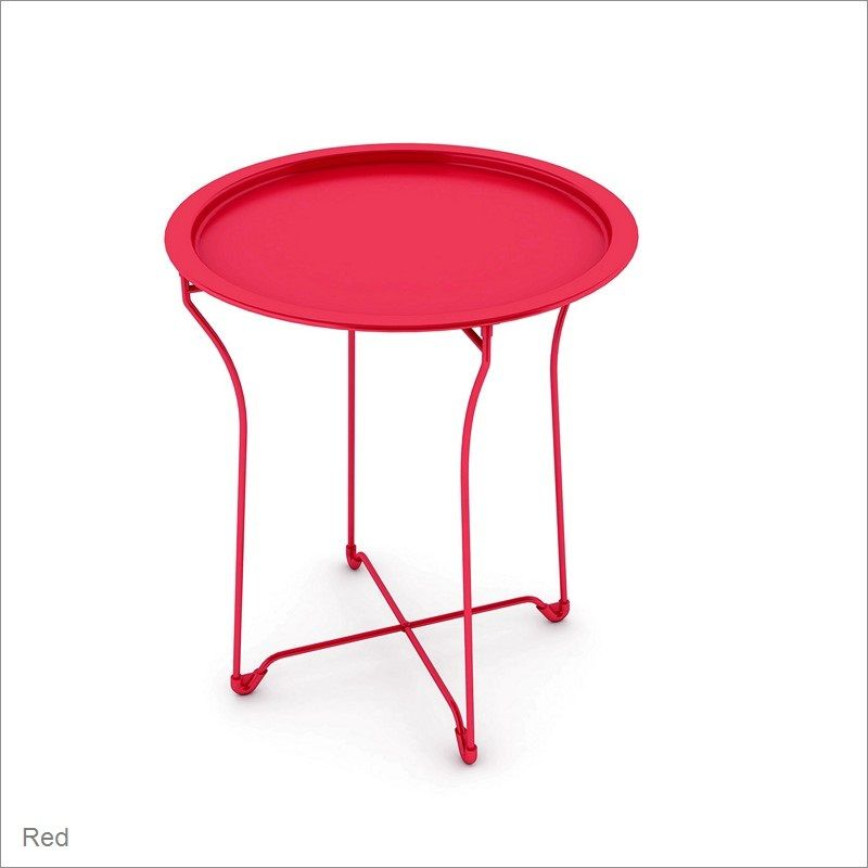 ürb SPACE Round Metal Tray Table