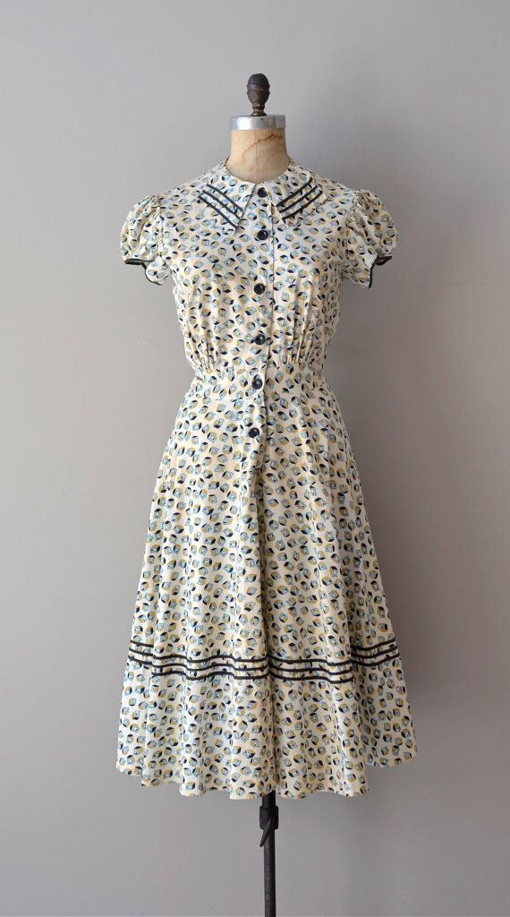 Retro Revolution Where To Find Vintage Clothing In: 1930s Dress / Vintage 30s Dress / Unicode Dress By